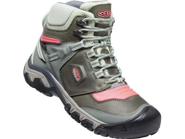 Keen Ridge Flex Mid WP Shoes Women, castor grey/dubarry